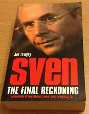SVEN THE FINAL RECKONING Joe Lovejoy Book (Paperback) Sven-Goran Eriksson