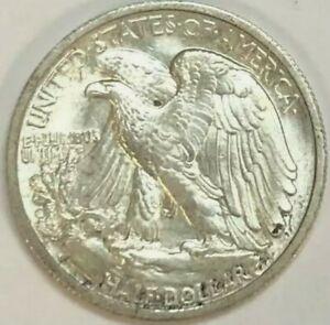 """1942-S Walking Half Dollar 50C """"Lustrous White""""   MS BU"""