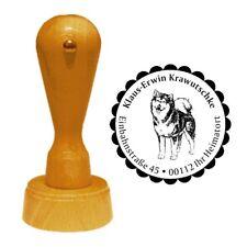 Stempel « ALASKAN MALAMUTE » Adressenstempel Motiv Hund Hunderasse Schlittenhund