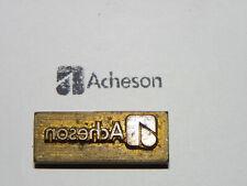 Alter Messing Stempel - Acheson - Druckplatte ?     #6319