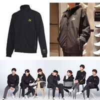 BTS PUMA LS TM Woven FZ Top Black KPOP GOODS with Track Number