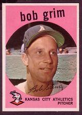 1959 TOPPS BOB GRIM CARD NO:423 BG42 NEAR MINT