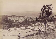 Baalbek Balbeck Liban Syrie Photo Bonfils Vintage Albumine ca 1870