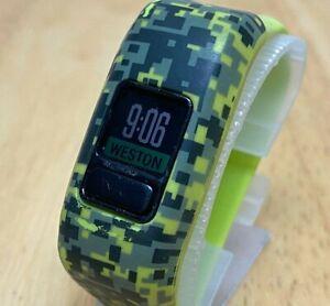 Garmin Vivofit Jr Green Fitness Excise Activity Calories Tracker Watch Hours