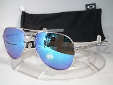 OAKLEY POLARIZED ELMONT L AVIATOR SUNGLASSES OO4119-0760 Satin Chrome / Sapphire