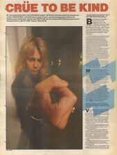 18/11/89Pgn40 Article & Picture 'crue To Be Kind' Metal Mayhem With The Motley C