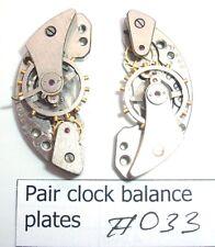 Matching pair of russian vintage clock balance plates wheels Steampunk art #038