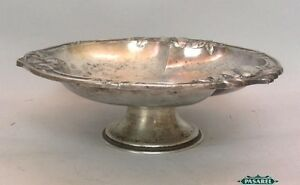 Gallia Christofle Silver Plated Footed Bowl France Ca 1920