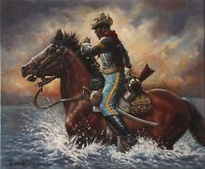 """Buffalo Soldier Art Print """"An NCO's Charge"""" (S/N LImited Edition)"""