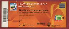Orig.Ticket    Frauen WM DEUTSCHLAND 2011   NORWEGEN - ÄQUATORIALGUINEA /Spiel 8