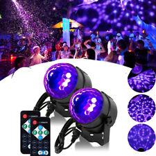 2x LED RGB Bühnenbeleuchtung Discokugel Lichteffekt Laser Licht DJ Party Lampe