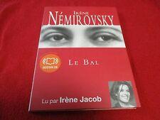 """LIVRE AUDIO """"LE BAL de Irene Nemirovsky"""" lu par Irene Jacob (1 CD)"""