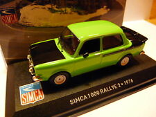 SIM16 voiture1/43 altaya IXO Simca : 1000 rallye 2 1976