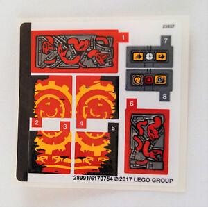 Lego (70626) Ninjago Aufkleber Sticker Verhängnisvolle Dämmerung