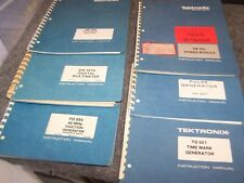 Lot of 6 Tektronix Manuals DM501a-FG 504-AM-502-TM-503-PG 501-TM 501 Good Cond