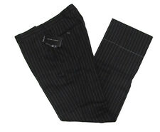 $295 Polo Ralph Lauren Mens Black Label Italy Wool Linen Striped Dress Pants 32