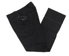 $295 Polo Ralph Lauren Mens Black Label Italy Wool Linen Striped Dress Pants 32