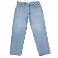 Levi's 550 Bleu Clair Décontractée Jeans Coupe Droite Taille W40 L32