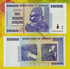 10 Billion Zimbabwe Dollars ZA Replacement Bank Note *Rarest Prefix* Almost UNC