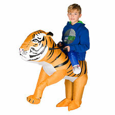 Kids Child Childrens Girls Inflatable Animal Tiger Fancy Dress Costume Outfit