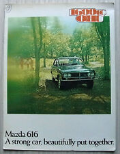 MAZDA 616 SALOON & COUPE LF Car Sales Brochure c1974