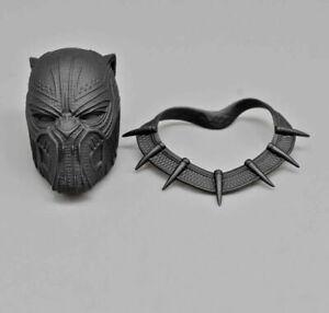 Cabeça De 1//6 Pantera Negra Escultura Em Pvc Esculpida Macho modelo brinquedo presente de Boneco de ação Fit
