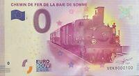 BILLET 0  EURO  CHEMIN DE LA BAIE DE SOMME  FRANCE  2017  NUMERO 100