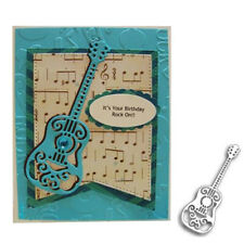 Guitar Metal Cutting Dies Stencils Scrapbooking Embossing Album Card Decor Craft