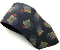 "Yves Saint Laurent Men's Tie Black Abstract 100% Silk 3.5"" Width 59"" Length"