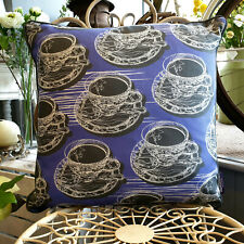 Violet Double Sided Teacup & Saucer Cushion With Piping  Created by thetinkan