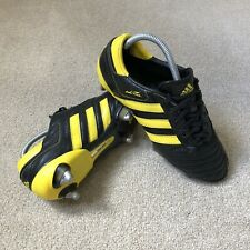 Adidas AdiPure III SG - World Cup Edition  - Black/Yellow - UK Size 8