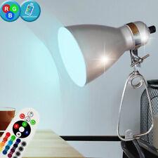 Klemm RGB LED Lampe grau Ess Zimmer Spot beweglich dimmbar Leuchte Fernbedienung