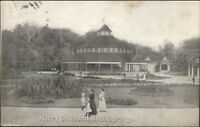 Chester WV Rock Springs Park Merry-Go-Round Carousel c1910 Postcard