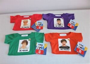4 x One Direction Group Members Build A Bear T-Shirts BNWT