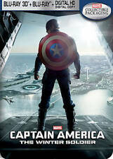 Captain America: The Winter Soldier (Blu-ray Disc, 2014, 3D Digital Copy Steelb…