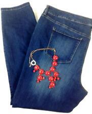 $69 style&co. blue plus mid rise performance flex skinny leg denim jeans 16W