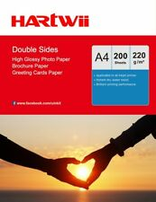 200 Sheets A4 220Gsm Double Sided High Glossy Photo Paper Inkjet Paper AU