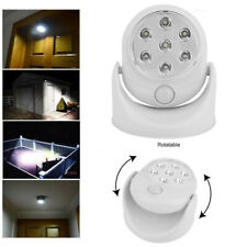 Waterproof Motion Sensor Night Light 360° LED Wireless Battery Powered Wall Lamp