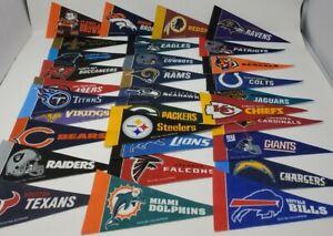 NFL Mini Pennant Set , All 32 Football Teams Mini Flags Rico Inc./Tag Express...