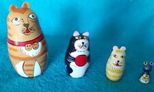 4 Piece Cat/ Mouse Nesting Dolls