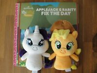 Itty Bittys My Little Pony APPLEJACK & RARITY FIX THE DAY Storybook Brand New