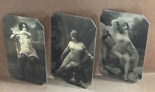 J.Edwards Original Lot of 3 Risque Nudes tintype  (numbered 400-402RP)