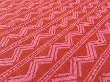 Victoria Hagan Chevron Stripe Fabric Twilight Rhythm Watermelon 0.90 yd 4004-04