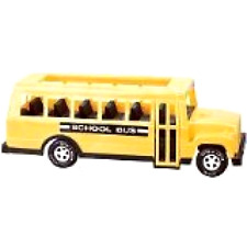 Kids Large School Bus Toy Truck 18'' With Side Doors That Open Yellow Car NO TAX
