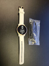 New Garmin Vivoactive 4S White Band Rose Gold Bezel GPS Smartwatch + More