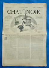 MONTMARTRE CABARET JOURNAL LE CHAT NOIR N°147 1er NOVEMBRE 1884 SALIS WILLETTE