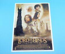 DOUBLE SIDED FOLDOUT POSTER LORD OF THE RINGS THE TWO TOWERS 2002 HITKRANT