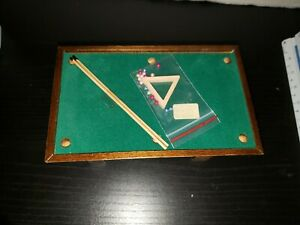 DOLLHOUSE MINIATURES CONCORD POOL TABLE WITH ORIGINAL BOX