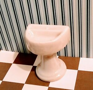 Antique Vintage Dollhouse Miniature Sink Porcelain 1:24 scale Japan