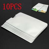 10cs Foil Secure Id Credit Card Holder Rfid Shield Protector Case Blocking